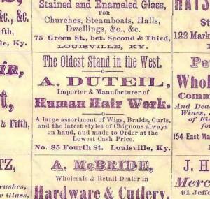 Alphonse Duteil, human hair merchant