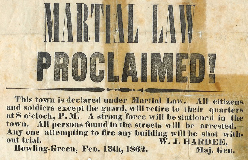 Martial law broadside, Kentucky Library Collections
