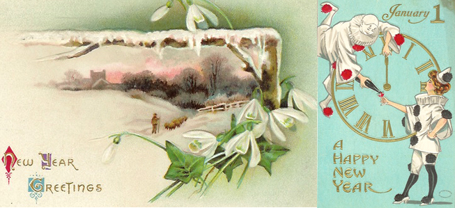 New Year's postcards, early 20th century