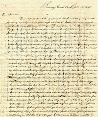 Letter of W. H. Smith, 1840