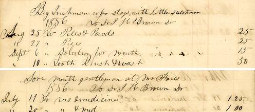 John H. Brown's drugstore accounts
