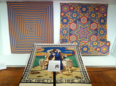 Quilts on exhibit at the Shelburne Museum