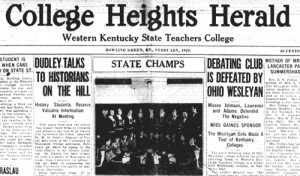 CHH Feb. 1929 Headline