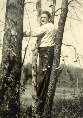 Gordon Wilson, in his ornithological habitat.
