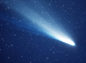 Halley's Comet in 1986 (NASA photo)