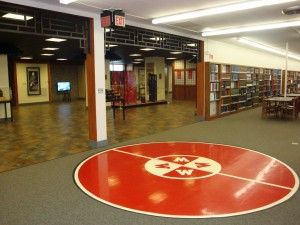 Remnant of Gymnasium in modern-day Helm Library