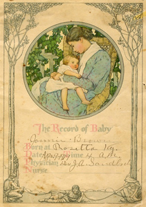 Jonnie Brown's baby book, 1919