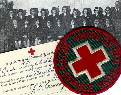 Red Cross Motor Corps, 1944 (Elizabeth Coombs first row, second from left)