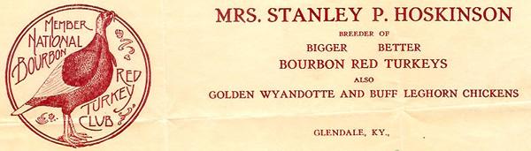 Virginia Hoskinson's letterhead