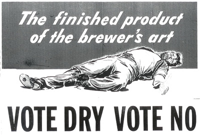"The ""drys"" added a moral component to their campaign against alcohol sales."