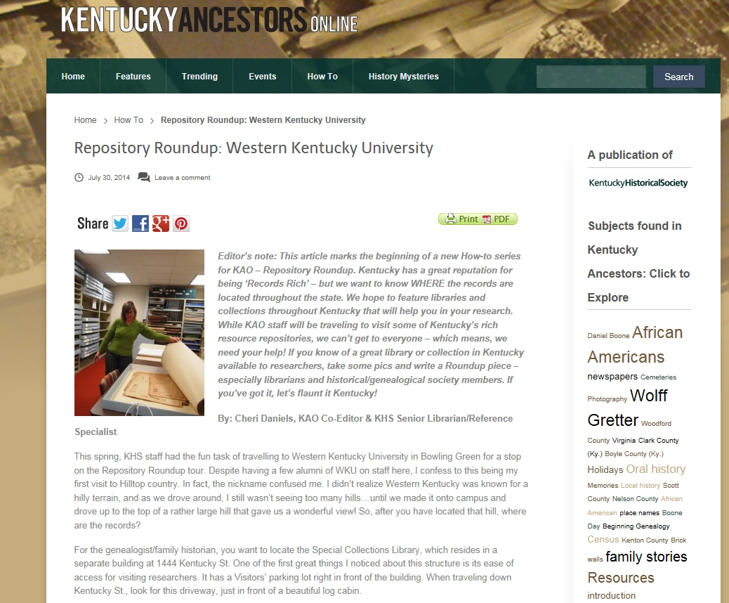 Special Collections | WKU Libraries Blog