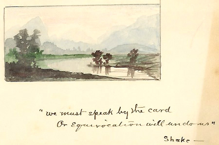 James Proctor Knott landscape with Hamlet quote