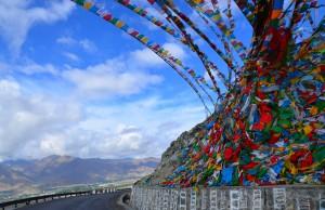 Prayer Flags on the Tibetan landscape
