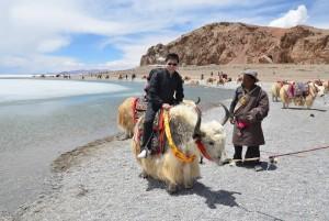Haiwang Yuan on a yak