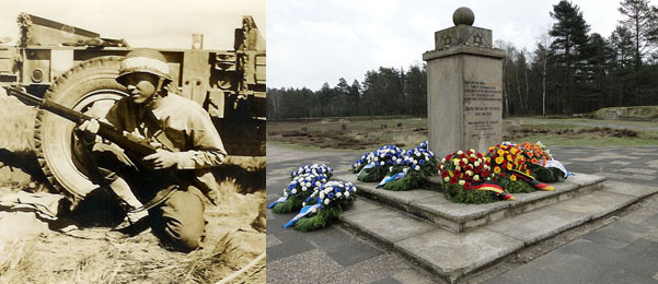 Lowell Harrison; Jewish memorial at Bergen-Belsen (Wikimedia Commons)