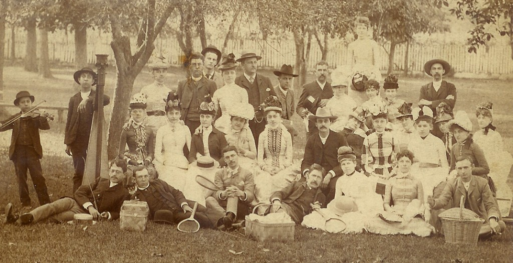 Picnic at the old fairgrounds in Bowling Green, 1886 (Library Special Collections)