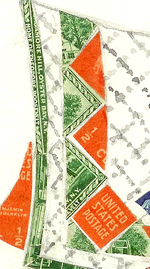 Stamp collage detail