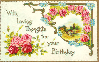 1910 birthday postcard