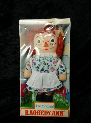Still very collectable, this Raggedy Ann in her original package was for sale on eBay on November 13, 2015