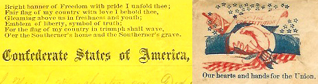 Union and Confederate letterheads