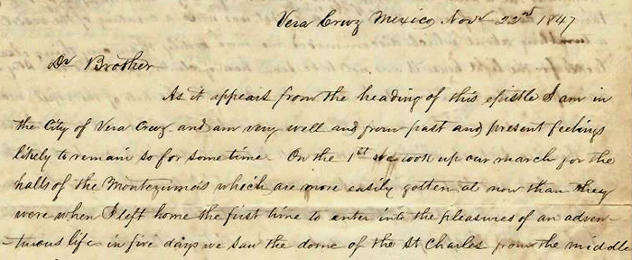 Charles Nourse's Mexican War letter