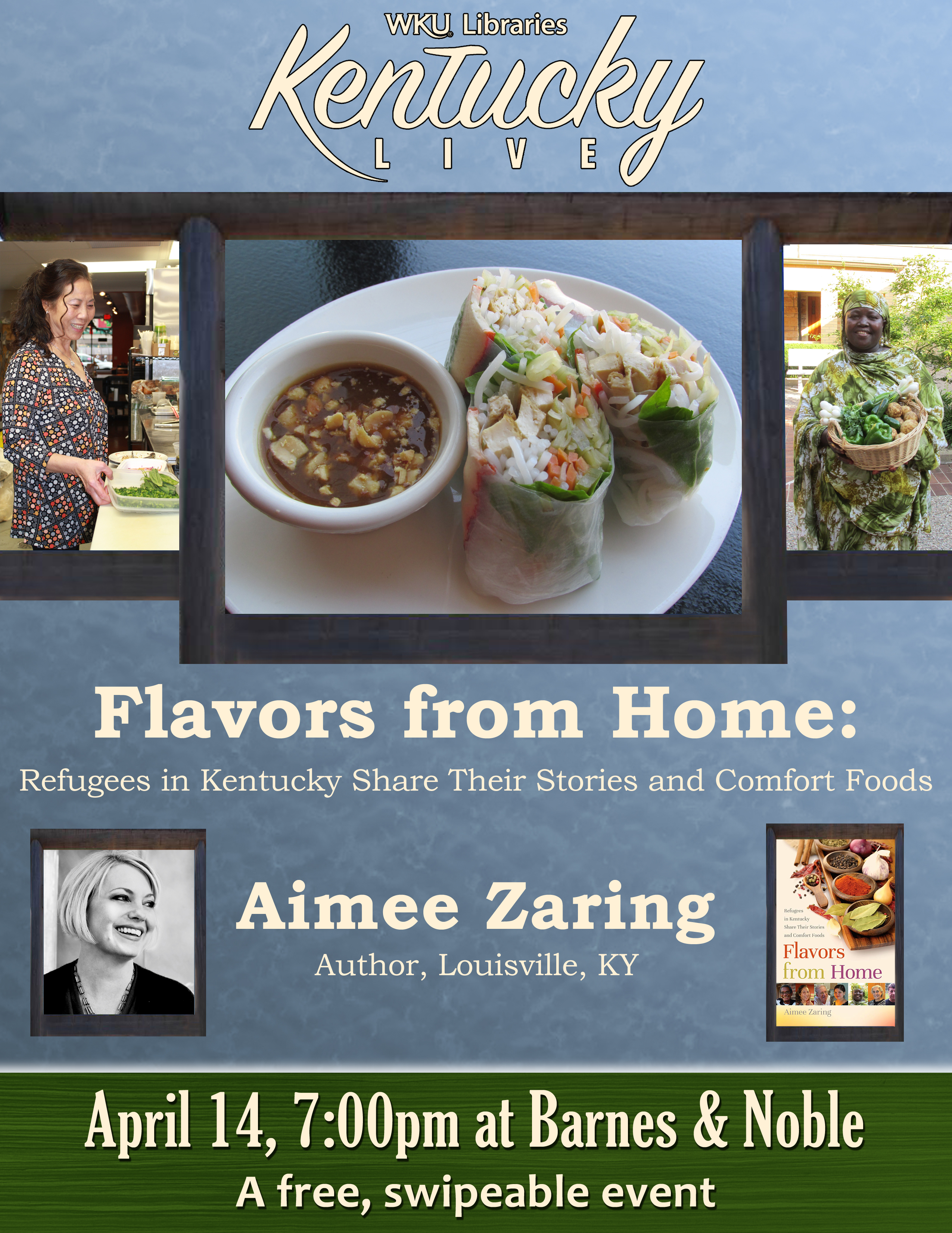 """Aimee Zaring """"Flavors from Home"""" event Flyer"""