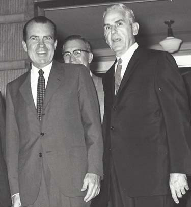 President Richard Nixon and William H. Natcher in happier times