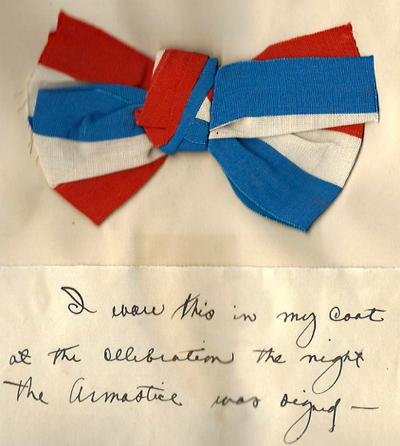 John Potter's Armistice ribbon