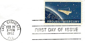 Project Mercury commemorative stamp (Frank Chelf Collection)