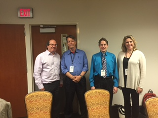 (From Left to Right) David Gann, Fenton Johnson, Sean Kinder, and Holly Tucker