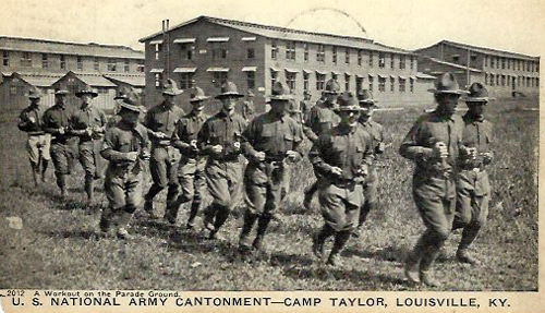 Soldiers training at Camp Taylor