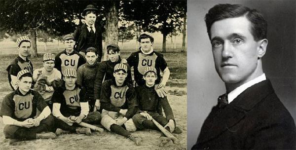 Cumberland University baseball team (from the 1895 Phoenix yearbook); Laban Lacy Rice