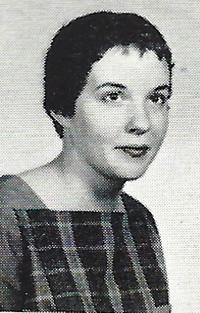 Photo of Sue Grafton (then Susan Flood) in 1960 Talisman, the WKU yearbook.