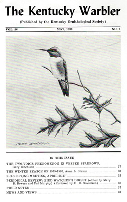 The Kentucky Warbler, May 1980