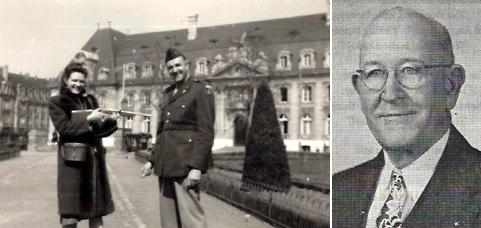 Naomi & Lester Woosley, Luxembourg, 1948; Bert Raldon Smith