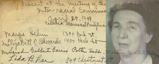 Margie Helm and her notes on the Inter-Racial Commission of Bowling Green