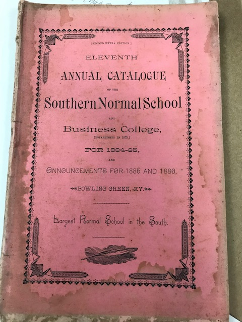 Southern Normal School Catalog 1884-85