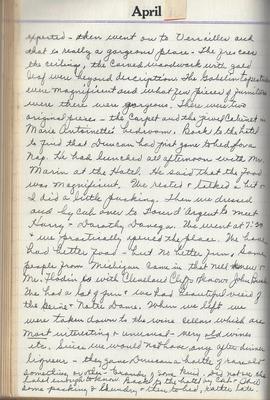 Clara Hines diary